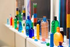Olika plast-flaskor Royaltyfria Bilder