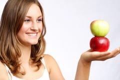 olika äpplen Arkivfoton