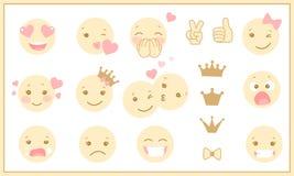 Olika prinsessasinnesrörelser i en plan design Royaltyfri Foto