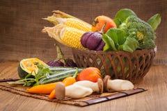 Olika rå grönsaker Fotografering för Bildbyråer