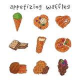 Olika rånkakor svamlar kexet för kakabakelsekakan stock illustrationer