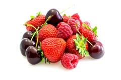 olika röda typer för frukt Royaltyfri Fotografi