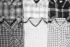 Olika rutiga skjortor Royaltyfri Fotografi
