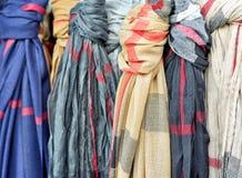 Olika scarves Arkivfoto