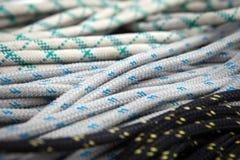 Olika segelbåtar för rep ombord royaltyfri fotografi