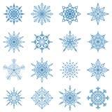 olika setsnowflakes Royaltyfri Illustrationer