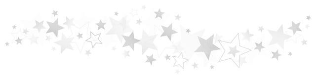 Olika silver och Gray Stars för gräns stock illustrationer