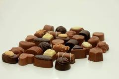 Olika slag av choklader Fotografering för Bildbyråer