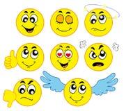 olika smileys 1 Arkivfoto