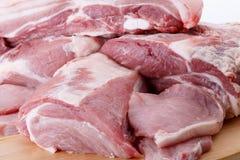 Olika snitt av nytt kött Royaltyfri Fotografi