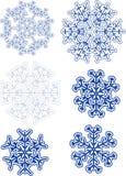 olika snowflakes Arkivbilder
