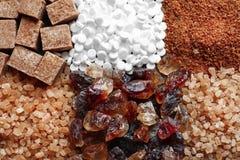 olika sockertyper Fotografering för Bildbyråer