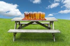 olika sorter av öl Arkivfoto