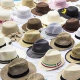 Olika sorter av hattar Royaltyfri Foto
