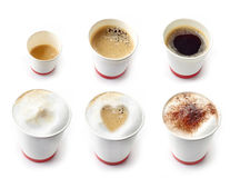Olika sorter av kaffe Arkivfoto