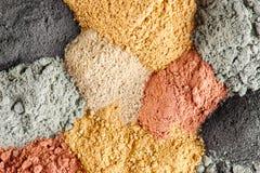 Olika sorter av kosmetisk lera Royaltyfria Bilder