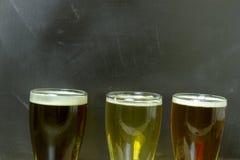 olika sorter av öl Arkivbilder