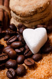 Olika sorter av socker Royaltyfria Foton