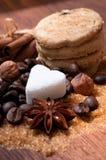 Olika sorter av socker Royaltyfria Bilder