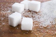 Olika sorter av sockerslutet upp Royaltyfri Bild