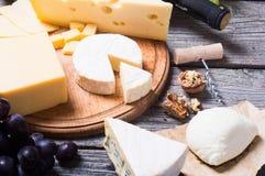 olika sorter för ost royaltyfri fotografi