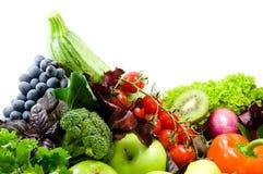 Olika sorteringar av grönsaker, frukt arkivbilder