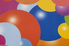 olika spheres för bakgrundsfärg Royaltyfria Bilder