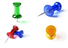 olika stift för färg vektor illustrationer