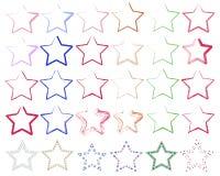 olika stjärnor Arkivfoton