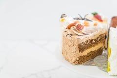 Olika stycken av kakan Royaltyfria Foton