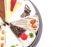 Olika stycken av kakan Royaltyfria Bilder