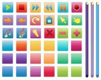 Olika symboler stock illustrationer