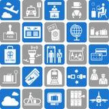 Resa symboler Fotografering för Bildbyråer