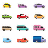olika symbolstyper för bilar Royaltyfria Foton