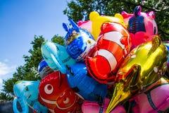Olika tecknad filmballonger Arkivbilder