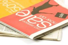 olika tidningar Fotografering för Bildbyråer