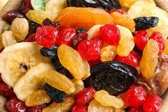 Olika torkade frukter som bakgrund Sund livsstil royaltyfri fotografi