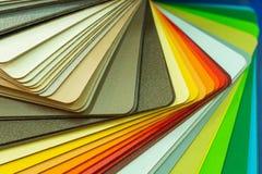Olika träprövkopior för möblemang Val av olika färger och texturer Inredesign och möblemanggarnering Arkivbilder