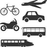 Olika transporttyper Royaltyfri Illustrationer