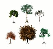 olika trees 3d Royaltyfria Foton