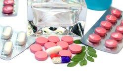 Olika typer av medicin/droger Royaltyfria Foton