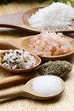Olika typer av salt Arkivbilder