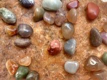 Olika typer av stenar arkivfoton