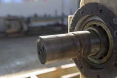 Olika typer av utrustning som används i oljeindustrin arkivfoton