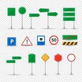 Olika vägmärken för stor uppsättning Normativt förbuds-, information, prioritet Royaltyfri Foto