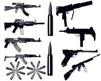 olika vapen Fotografering för Bildbyråer