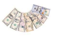 olikt dollarfoto för sedlar oss Fotografering för Bildbyråer