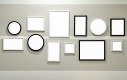Olikt format av den svartvita fotoramen arkivfoto
