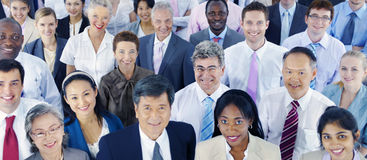 Olikt lyckat företags begrepp för affärsfolk royaltyfri foto