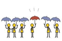 olikt paraply Arkivbilder